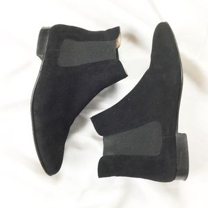 Barneys NY Black Suede Chelsea Ankle Boots